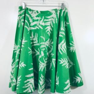 Tommy Hilfiger Green Lawn Party Circle Skirt